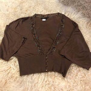 Shrug brown designer sweater